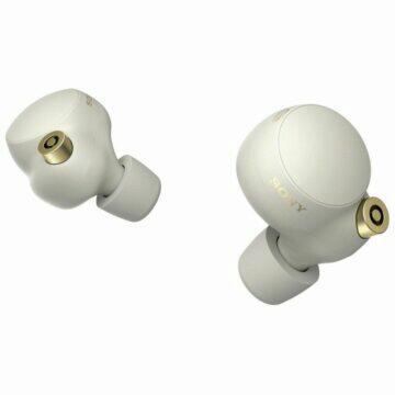 Uniklá reklama na sluchátka Sony WF-1000XM4 bílé špunty