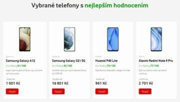 Vodafone Eco Rating ukázka
