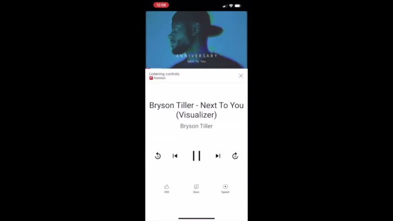 YouTube 'Listening controls' for music