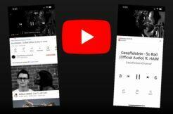 YouTube ovládání hudby