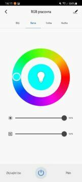 žárovka barvy