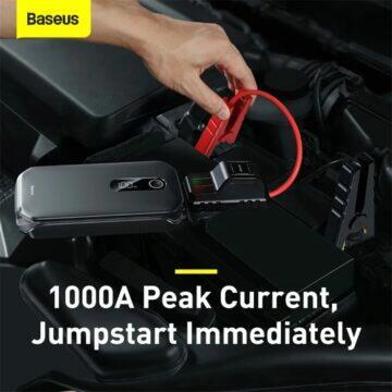 12000mAh automobilový jump starter Baseus proud