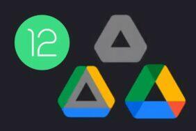 Android 12 animace spouštění aplikací Google Disk