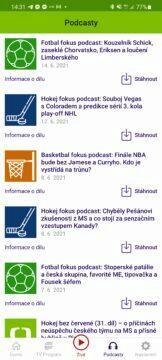 Aplikace ČT sport me ve fotbale euro podcast list