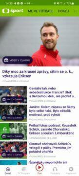 Aplikace ČT sport me ve fotbale euro úvod