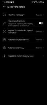 aplikace Huawei Zdraví 11 sledovaní zdraví