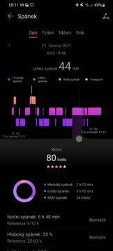 aplikace Huawei Zdraví 2 spánek