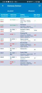 Aplikace Infotabule odjezdové tabule cestování vlakem zpoždění vlaků odjezd vlaku odjezdy