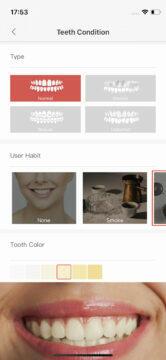 Aplikace Oclean vyber profilu
