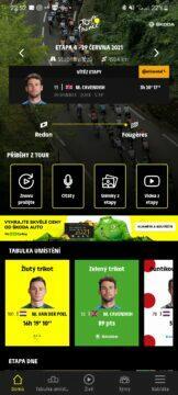 Aplikace Tour de France 2021 by Škoda cyklistika přehled
