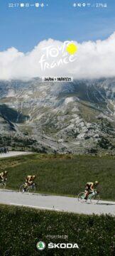 Aplikace Tour de France 2021 by Škoda cyklistika úvod