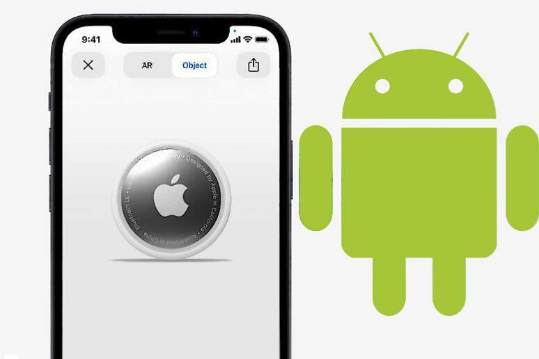 Apple AirTag aplikace Android iPhone lokátor