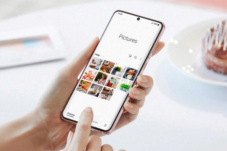 celoobrazovkové prohlížení Samsung Galerie