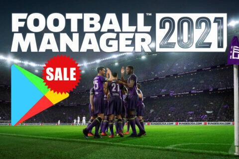 Football Manager 2021 ve slevě na Google Play