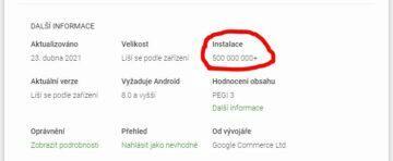 Google Asistent Obchod Play 500 milionů stažení instalací