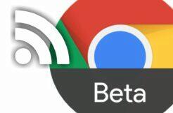 Google Chrome Beta RSS čtečka