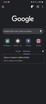 Google Chrome Beta RSS čtečka Sledováno