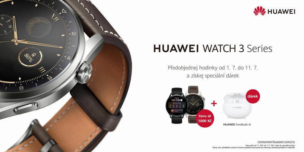 Huawei Watch 3 předprodej ČR česká cena dárek