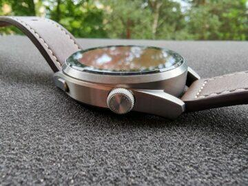 Huawei Watch 3 Pro design horní tlačítko korunka haptická odezva