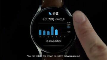 Huawei Watch 3 specifikace cena horní tlačítko rotace