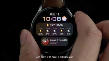Huawei Watch 3 specifikace cena horní tlačítko stisknutí