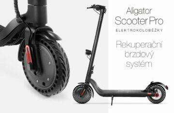 koloběžka Aligator Scooter Pro rekuperační brzdy