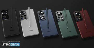 koncept Galaxy S22 Ultra - barvy