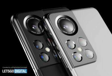 koncept Galaxy S22 Ultra - fotoaparáty
