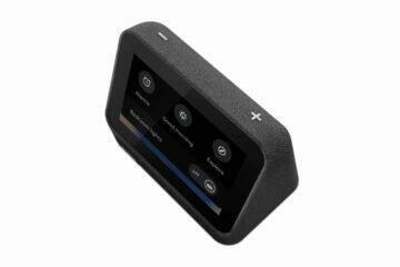 Lenovo Smart Clock 2 černá displej ovládání