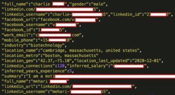 LinkedIn únik uživatelských dat vzorek