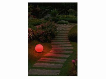 LIVARNOLUX LED Zigbee venkovní osvětlení LIDL smart home chytrá domácnost světelná koule červená
