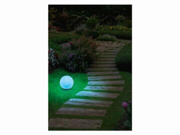 LIVARNOLUX LED Zigbee venkovní osvětlení LIDL smart home chytrá domácnost světelná koule modrá