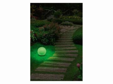LIVARNOLUX LED Zigbee venkovní osvětlení LIDL smart home chytrá domácnost světelná koule zelená