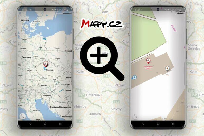 Mapy.cz další úroveň přiblížení