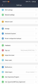 Mi WiFi app 10 nastavení