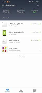Mi WiFi app 8 připojená zařízení