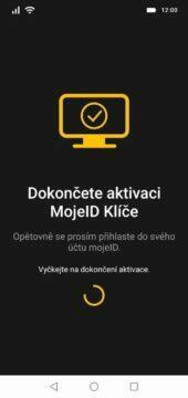 MojeID aplikace Klíč aktivace