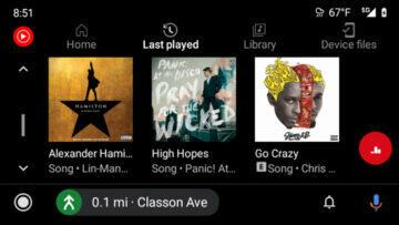 nové rozhraní android auto youtube music