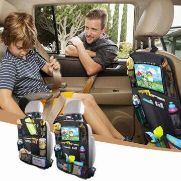 Organizér na sedadlo auta s kapsou na mobil tablet
