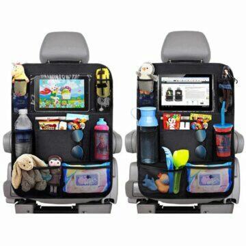 Organizér na sedadlo auta s kapsou na mobil tablet kapsy