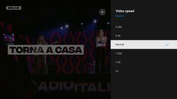 Rychlost přehrávání na YouTube v Android TV rychlosti