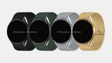 Samsung Galaxy Watch Active4 rendery barvy