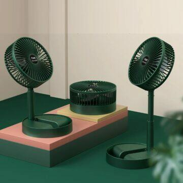 Skládací ventilátor na stůl i zem