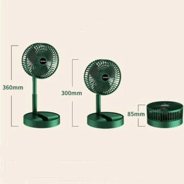 Skládací ventilátor na stůl i zem velikosti