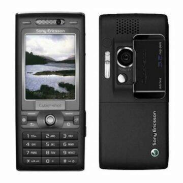 Sony Ericsson K800i displej záda