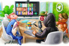 Telegram 7.8 animované tapety skupinové videohovory