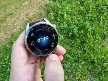 testování Huawei Watch 3 Pro displej