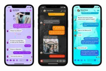 Tři nová témata Messenger