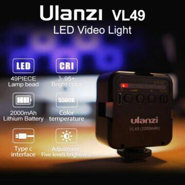 Ulanzi VL49 6W Mini LED světlo pro fotografy kameramany