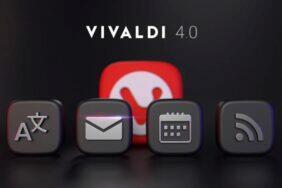 Vivaldi 4.0 e-mailový klient kalendář překladač RSS čtečka